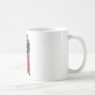 Superman Looks Front Coffee Mug