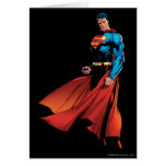 Superman Looks Front Greeting Cards