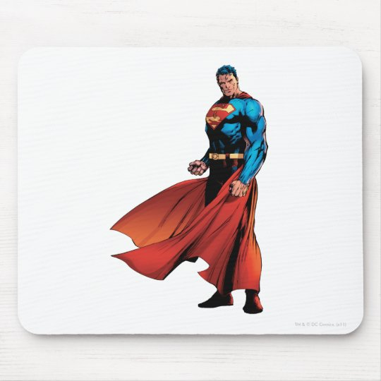 Superman Looks Front Mouse Pad