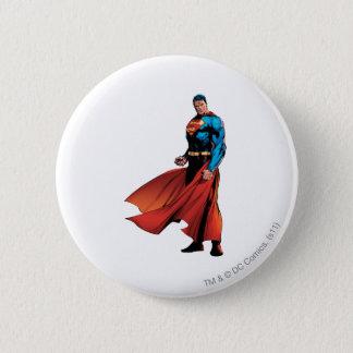 Superman Looks Front Pinback Button