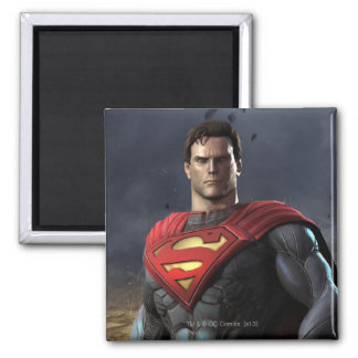 Superman 2 Inch Square Magnet