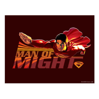 Superman Man of Might Post Card
