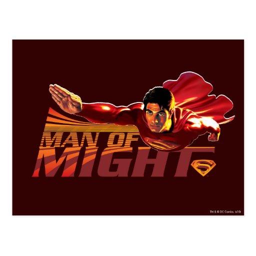 Superman Man of Might Postcard