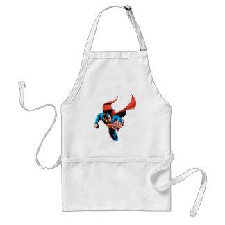 Superman moving forward adult apron