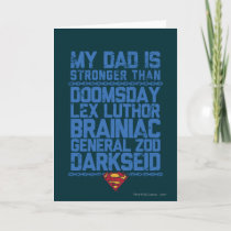 Superman - My Dad is Stronger Than... Card