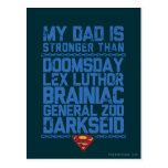 Superman - My Dad is Stronger Than... Postcard