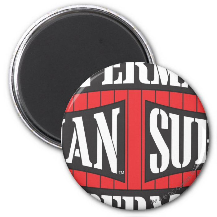Superman Name Pattern 2 Inch Round Magnet