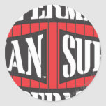 Superman Name Pattern Classic Round Sticker