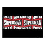 Superman Name Pattern Postcard