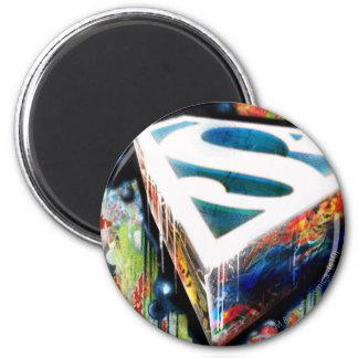 Superman Neon Graffiti 2 Inch Round Magnet