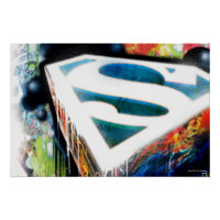 Superman Neon Graffiti Poster