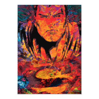 Superman Orange Grunge Card