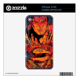 Superman Orange Grunge Decal For iPhone 4
