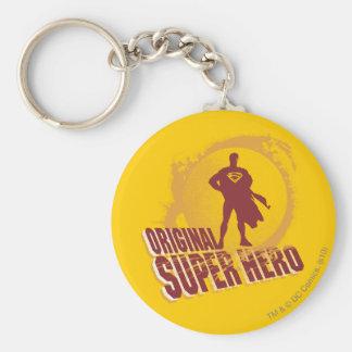 Superman Original Super Hero Basic Round Button Keychain