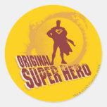 Superman Original Super Hero Classic Round Sticker