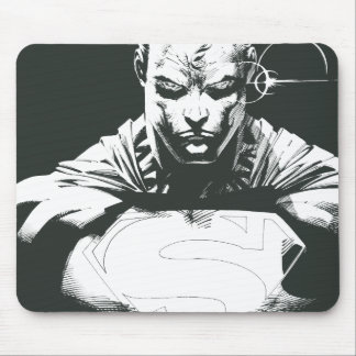 Superman Outline Mouse Pad