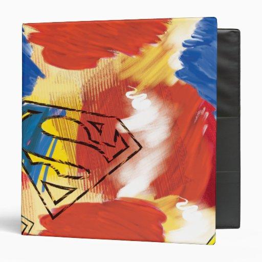 Superman Painted Logo Binder