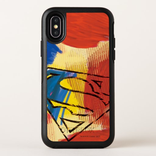 Superman Painted Logo OtterBox Symmetry iPhone X Case