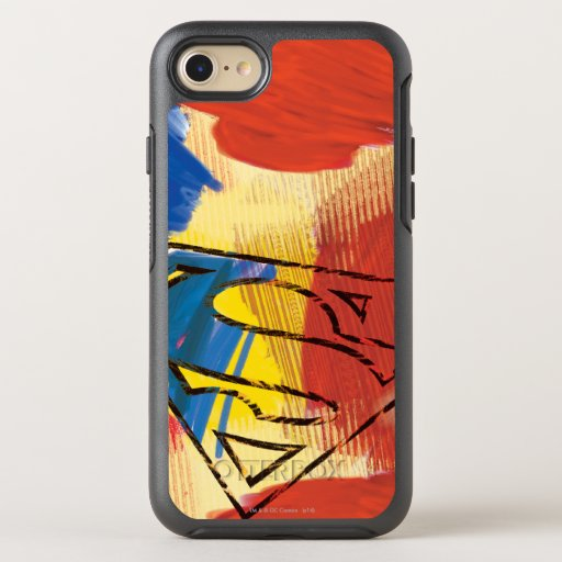 Superman Painted Logo OtterBox Symmetry iPhone SE/8/7 Case
