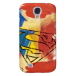 Superman Painted Logo Samsung Galaxy S4 Cases