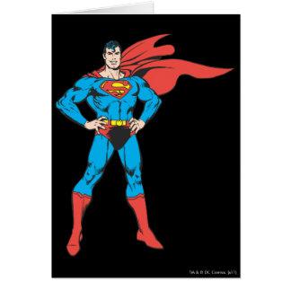Superman Posing Card