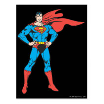 Superman Posing Postcard