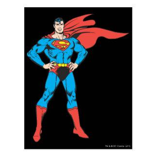 Superman Posing Postcard