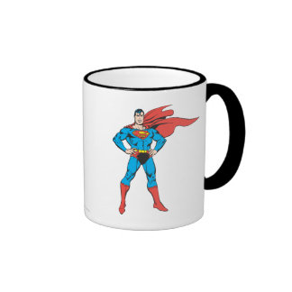 Superman Posing Ringer Mug