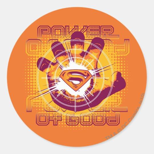 Superman Power of Good Classic Round Sticker