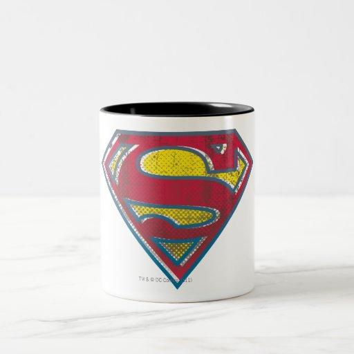 Superman Printed Logo Two-Tone Coffee Mug