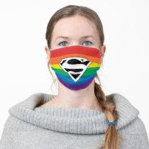 Superman Rainbow Logo Adult Cloth Face Mask