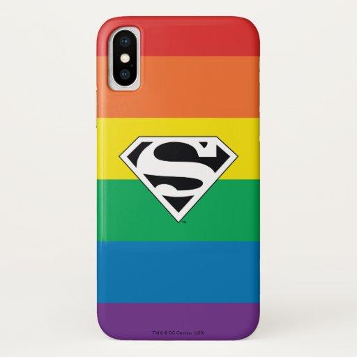 Superman Rainbow Logo iPhone X Case