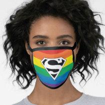 Superman Rainbow Logo Face Mask