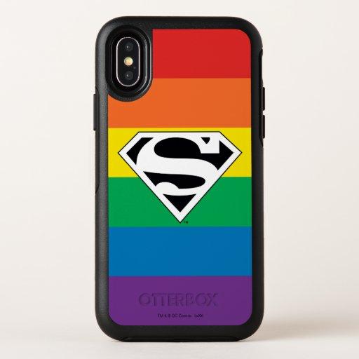 Superman Rainbow Logo OtterBox Symmetry iPhone X Case