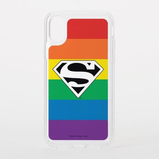 Superman Rainbow Logo Speck iPhone X Case