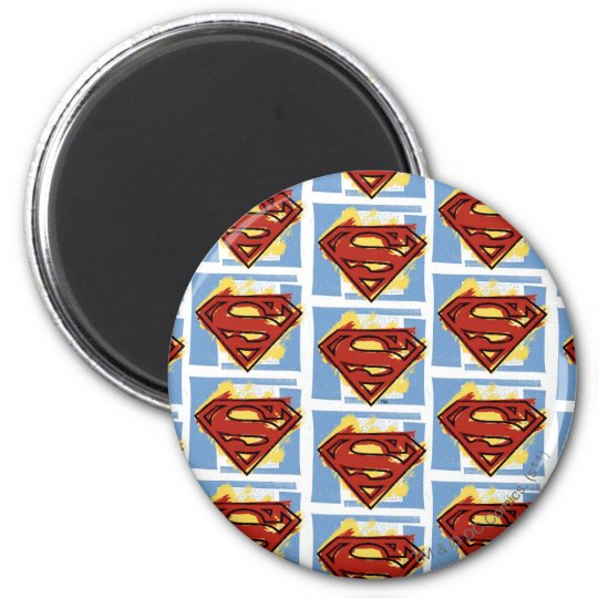 Superman Red and Blue Pattern Magnet