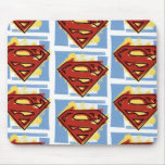 Superman Red and Blue Pattern Mouse Pad