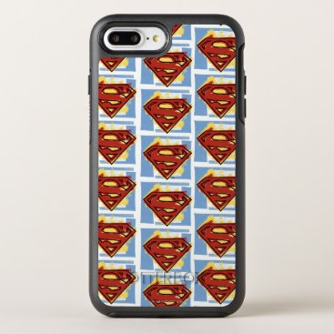 Superman Red and Blue Pattern OtterBox Symmetry iPhone 8 Plus/7 Plus Case