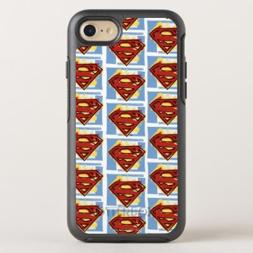 Superman Red and Blue Pattern OtterBox Symmetry iPhone 8/7 Case