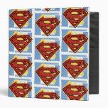 Superman Red and Blue Pattern Vinyl Binders