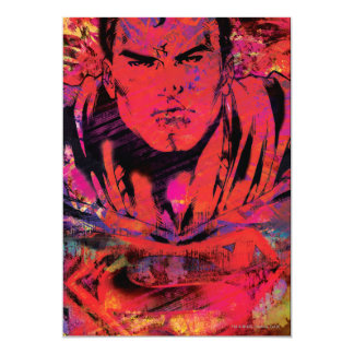 Superman Red Grunge Card