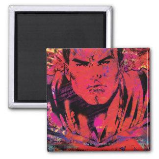 Superman Red Grunge Magnet