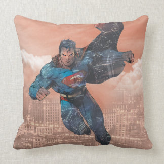 Superman - Red Throw Pillow