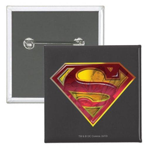 Superman Reflection S-Shield Pinback Button