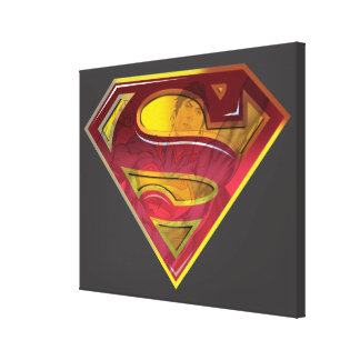 Superman Reflection S-Shield Gallery Wrapped Canvas