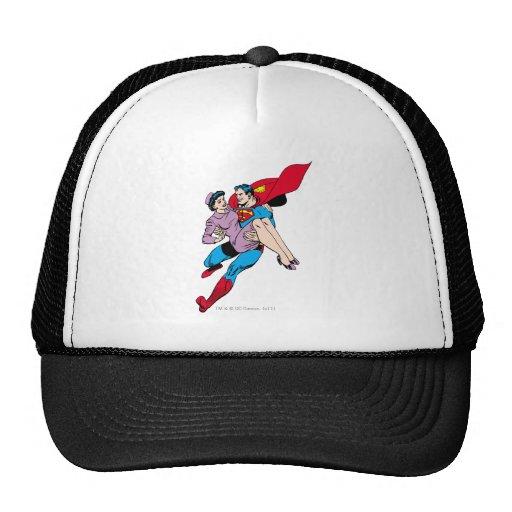 Superman rescues Louis Hats
