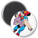 Superman rescues Louis Magnet