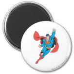 Superman Right Fist Raised 2 Inch Round Magnet