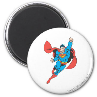 Superman Right Fist Raised 2 Inch Round Magnet