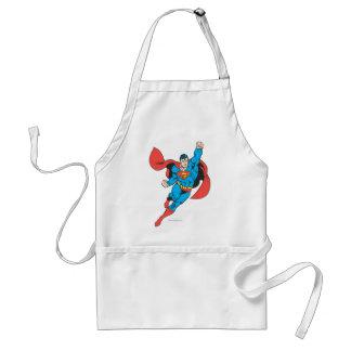 Superman Right Fist Raised Adult Apron